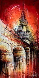 Parisian Sunset by Samantha Ellis -  sized 24x48 inches. Available from Whitewall Galleries